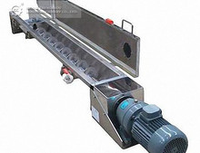 Factory price stainless steel screw conveyor with hopper