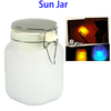 Outdoor Waterproof Solar Powered Lamp Lantern Sun Jar with 2 Colors Light
