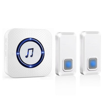 NURBENN long range wireless smart ring ac plug electronic doorbell for the deaf with flashlight