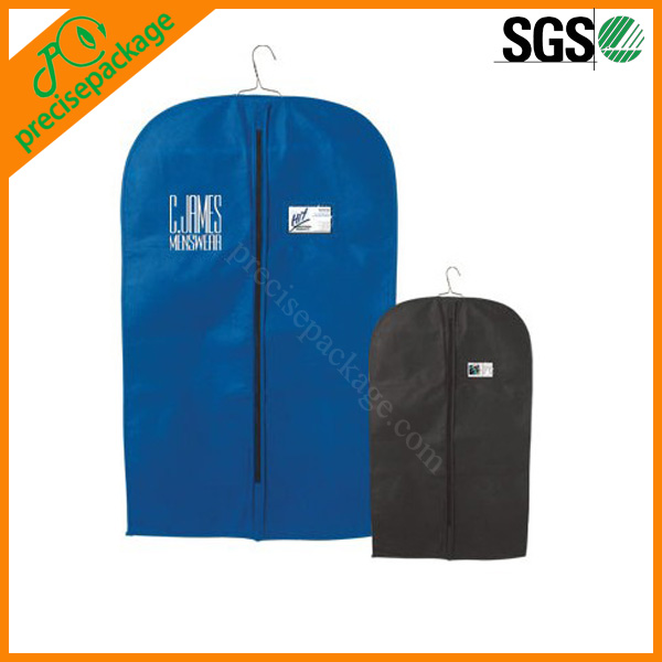 Breathable suit cover garment bag with pocket
