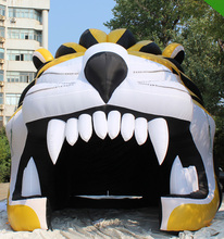 Customized high quality inflatabale sports tunnel inflatable tiger tunnel