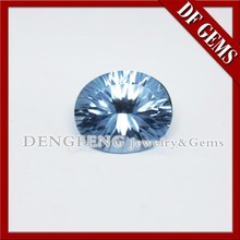 Oval Shape Millenium Cut Blue Ocean Gems