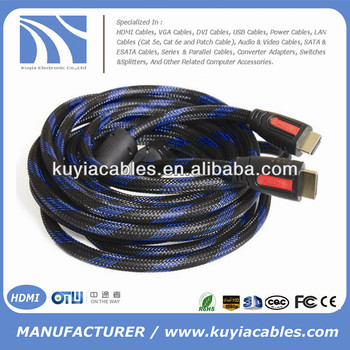 Top quality nylon net to HDMI Cable Male to Male Cable