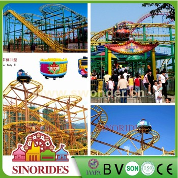 13.5M Hight 350M Track Shock Wave Roller Coaster From Swonder Factory