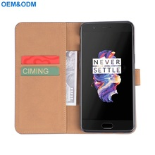OEM For OnePlus 5 PU Leather Flip Phone Wallet Case With 2 Card Slots