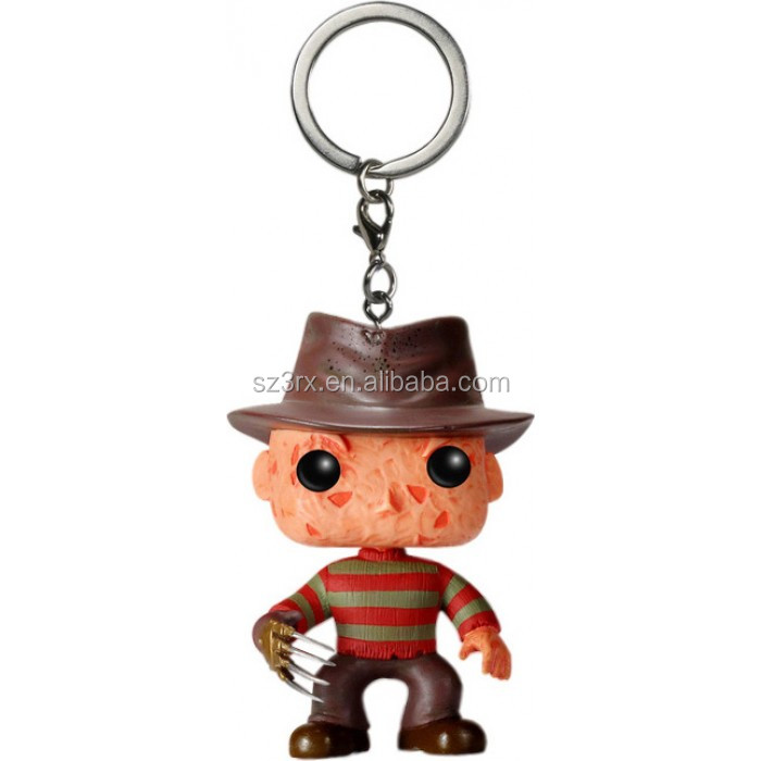 Nightmare on Elm Street Freddy Krueger Pop! Vinyl Figure Key Chain Manufacturer,OEM Plastic Keychain Factory