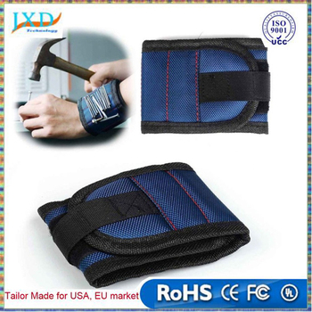 Practical Magnetic Wristband with Strong Magnets for Holding Screws, Nails, Drill Bits Tool Bag