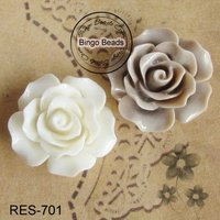 Resin Flower Cabochons Flat Back Resin Flower DIY Findings