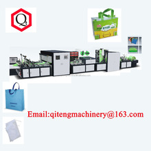 Fully automatic five in one non woven fabric shopping box bag making machine