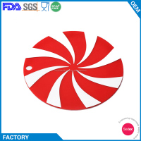 Hot Sale Fancy Printing Windwill Shape Silicone Rubber Trivet
