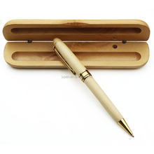 Hot sales Promotional luxury engraved wood ball pen in gift boxes case wooden pen set