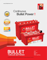 BULLET RED TUBULAR BATTERY