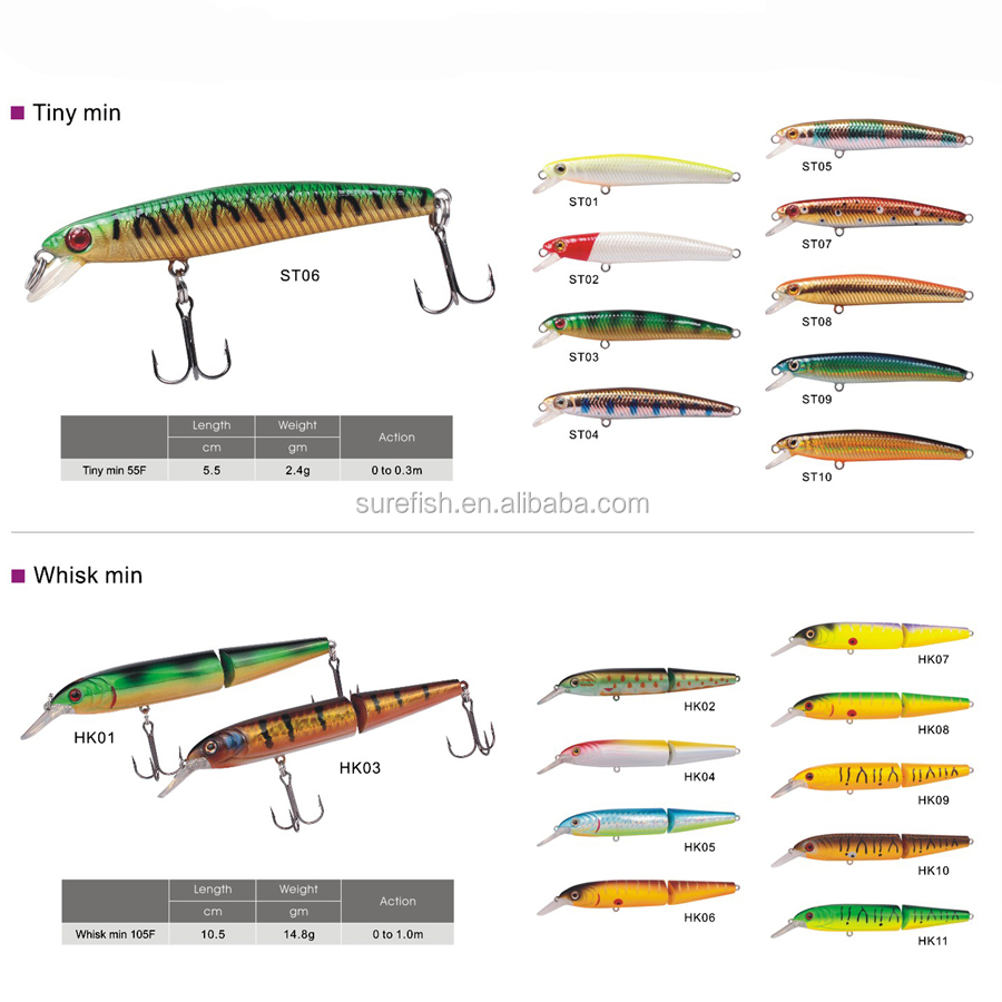 hard plastic <strong>fishing</strong> lures manufacturer artificial minnow lure