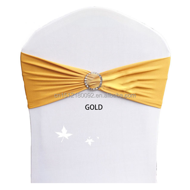Gold Wedding Chair Sashes for Spandex Chair Covers
