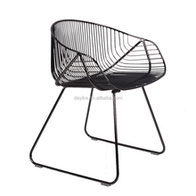 quality steel wire chair Dining room living room outdoor furniture