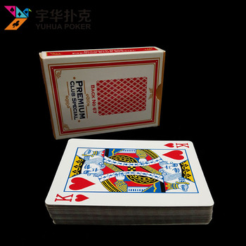 Promotional NO.92 standard poker size best paper casino playing cards