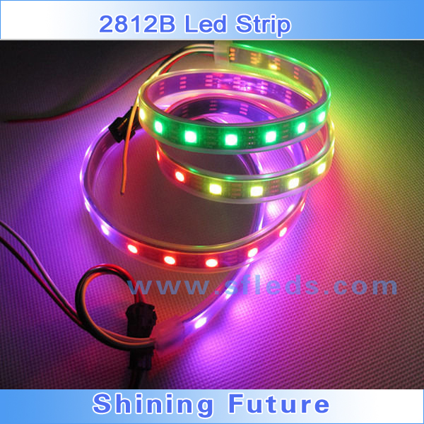Inteligente tira LED pixel 5m WS2812B Smart led pixel strip Black/White PCB,30/60/144 leds/m WS2811 IC IP20/IP65/IP67 DC5V