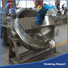 Automatic stainless steel gas power source jacketed cooking kettle