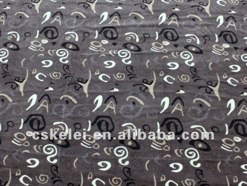 Printed Bus Upholstery Fabric