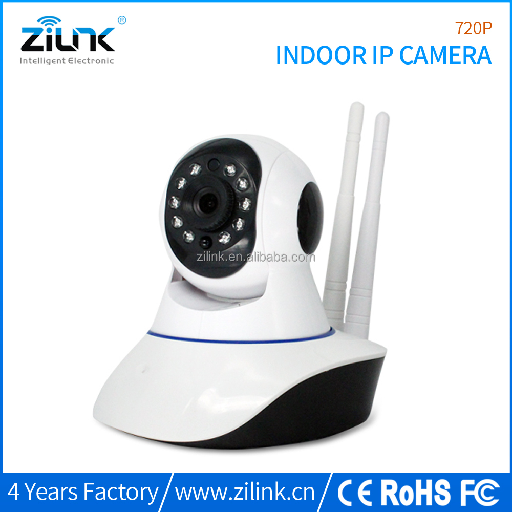 Home surveillance 720p baby monitoring camera double antenna ip wireless camera