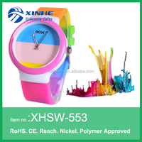 2017 waterproof silicone quartz wrist watch women for promotion gift