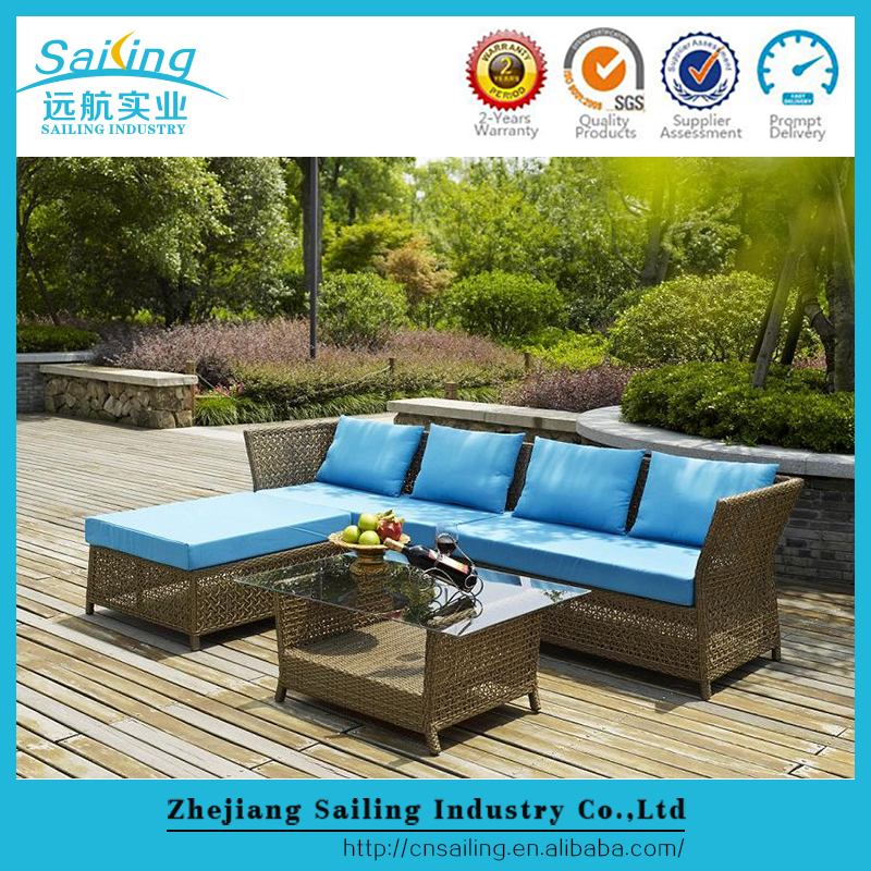 Sailing All-Weather Specific Use Outdoor Wicker Patio Cube Fancy Plastic Sofa Set