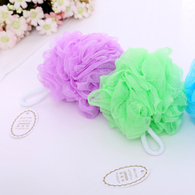Promotional cheap price bath pouf wholesale , mesh pouf bath sponge