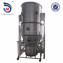 Vertical fluid bed dryer equipped with pulse dust collection