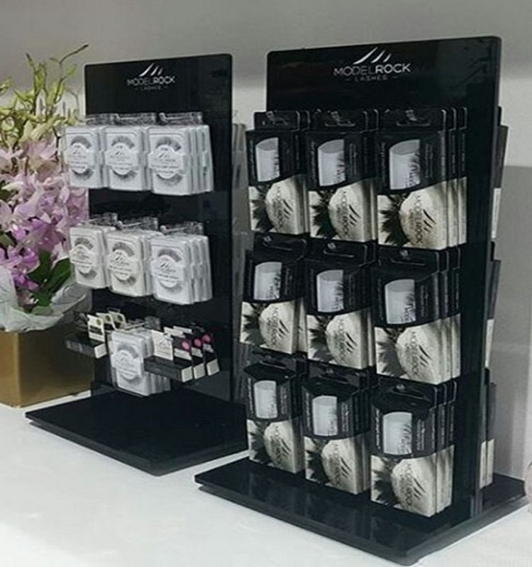 Exhibition Stand Hooks : Cosmetic beauty eyelashes extension case display stand