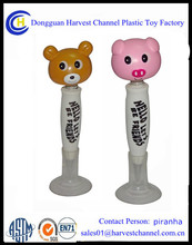 soft PVC animal head ballpen