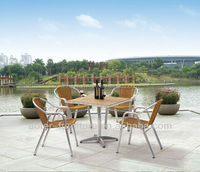 Garden chairs dining table set rattan furniture