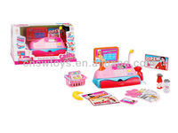 Best Toy Cash Register With Scanner For Kids w/ Cash Coins to Grocery Basket & Electronic Sounds Princess set