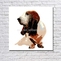 Lovely dog animal wall pictures nice design home goods oil painting