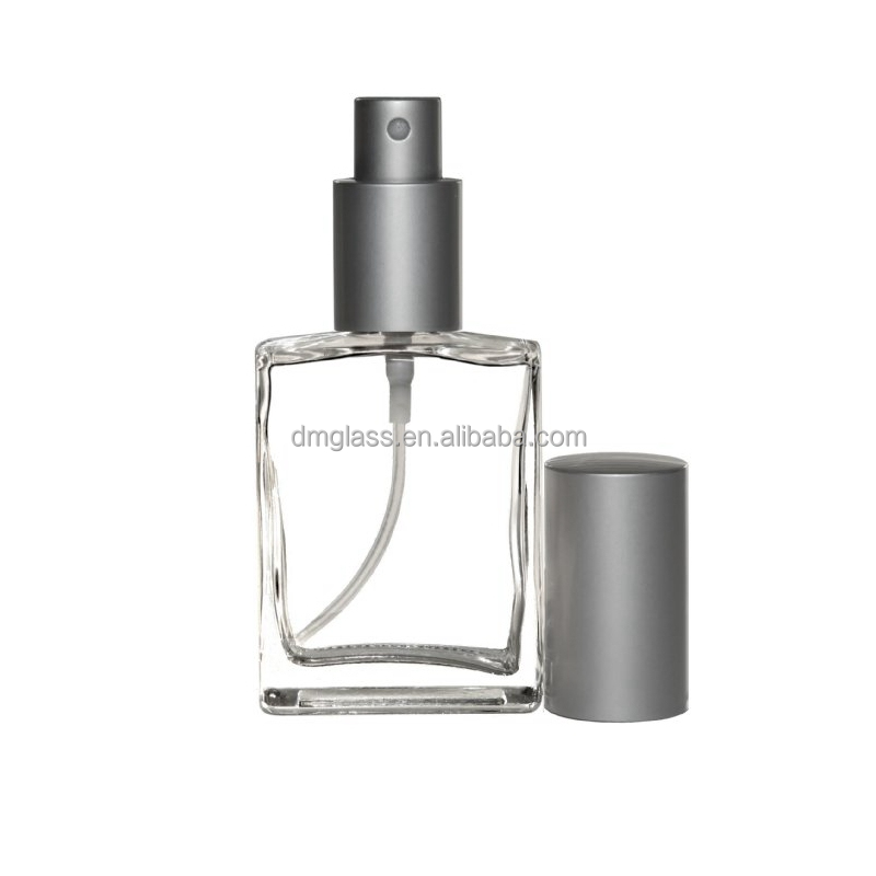 Riverrun Empty Refillable Perfume Atomizer Glass Fragrance Bottle With Matte Silver Sprayer 15ml 1/2 oz