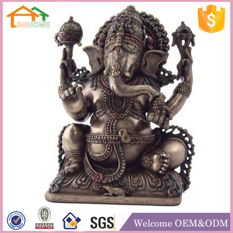 Factory Custom made best home decoration gift polyresin resin statue ganesh