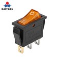 Electrical popular sell 2way 3pin 220V 6A AC Voltage LED Rocker switch yellow light