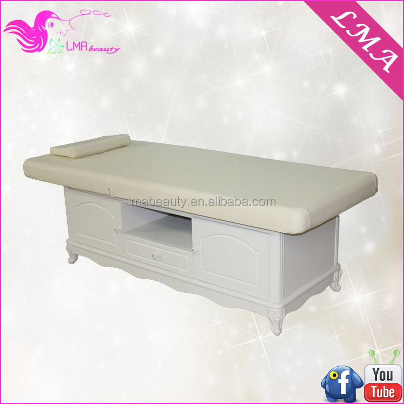 Cheap comfortable atropine wooden stationary Cosmetic massage Bed MD50