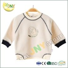 Custom infant cotton plain long sleeve t shirt