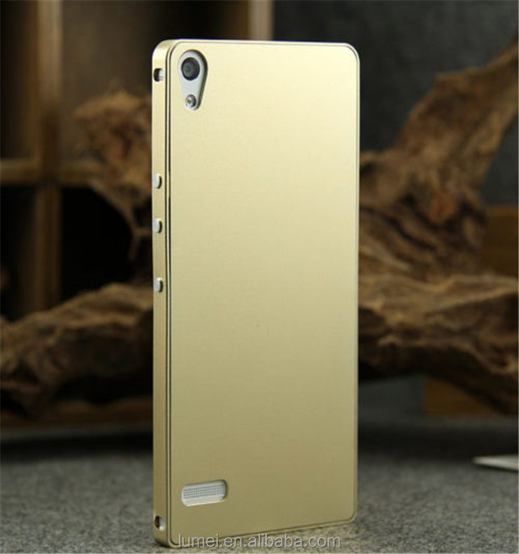 Ultra Thin Luxury Aluminum Metal Bumper Case Cover For Huawei Ascend P6