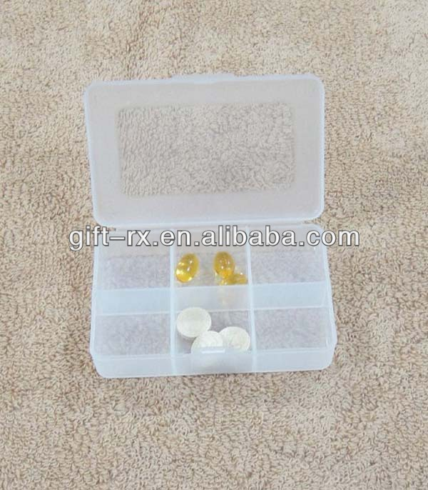 Newest design mini size portable colour monthly pill box colour storage box