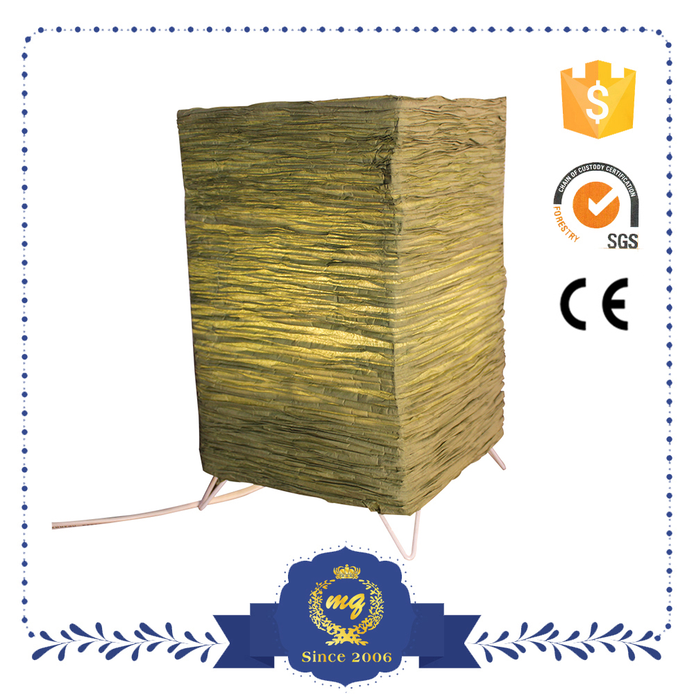 Square Green Customized Design Decorative Table Lamp
