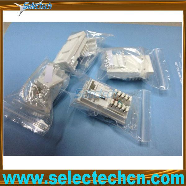 Degree Metal Shielded keystone jack cat5e cat6 for wall plate adaptor