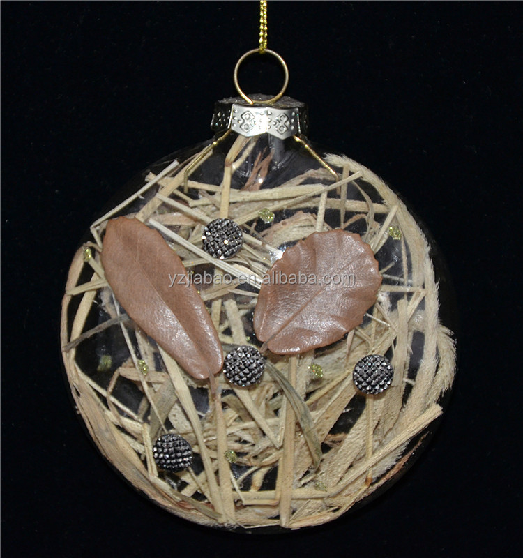 New handmade craft home decoration pieces and christmas ornament from glass factory in china