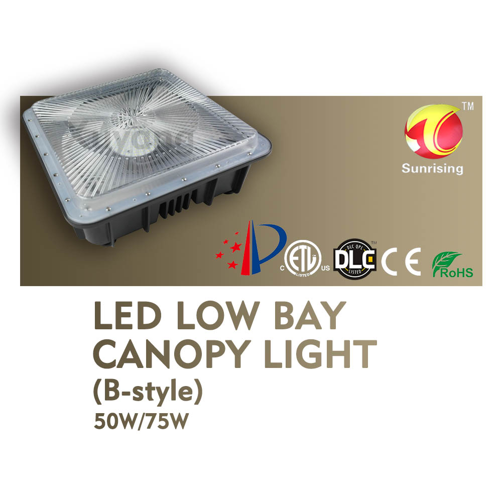 Rise Lite high lumens gas station led canopy light outdoot light 100W 150W 200W