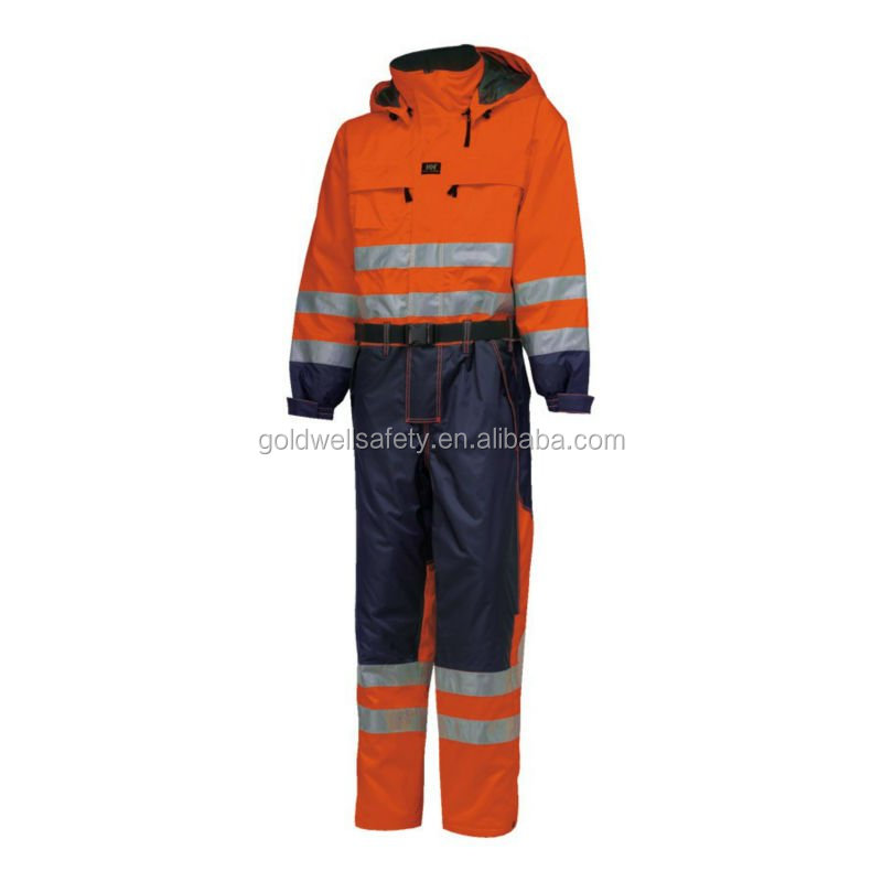 High Quality Mechanic Mens Winter Working Overall Uniform with reflective tape