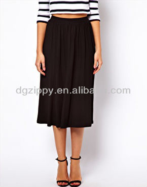 Long Cotton Midi Skirt for fat ladies