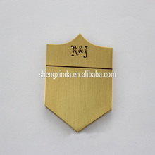 SXD Plated Custom Engraved Metal Logo Golf Bag Parts Tag