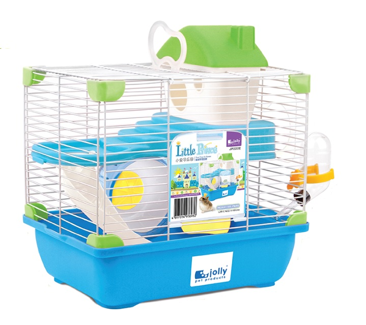 High Quality Blue Lovely Double Layer Carrying Indoor Hamster Cage