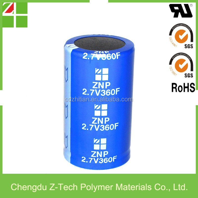 factory direct supercapacitor ultracapacitor greencap starcap RoHS UL 2.7V 360F super capacitor