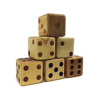 Wholesale factory price outside wooden giant dice yard dice game for kids and adults